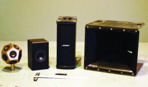 Dedecahedron loudspeaker, bookshelf loudspeaker, subwoofer, medium-format horn.