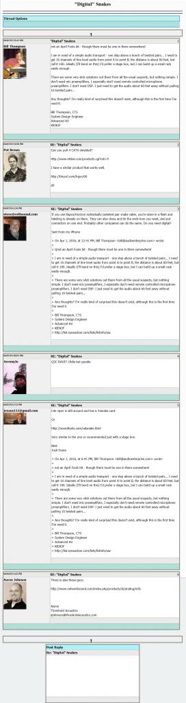 Forum Thread