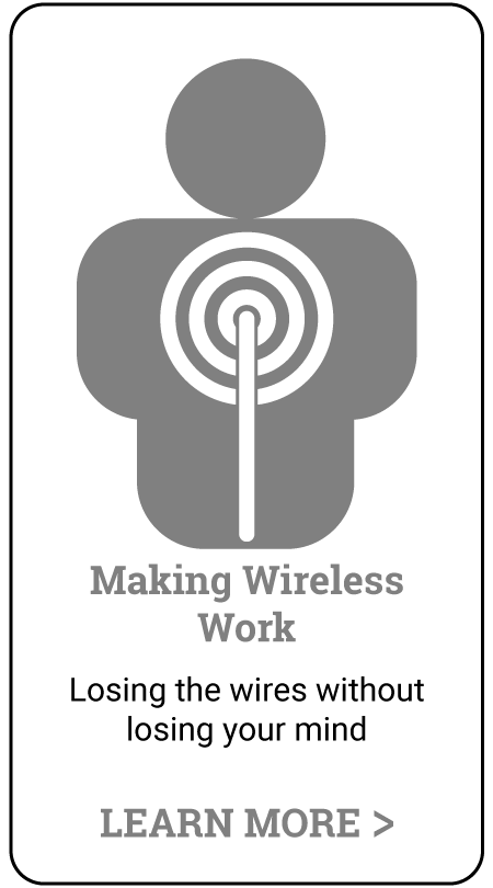 in-person audio training - making wireless work