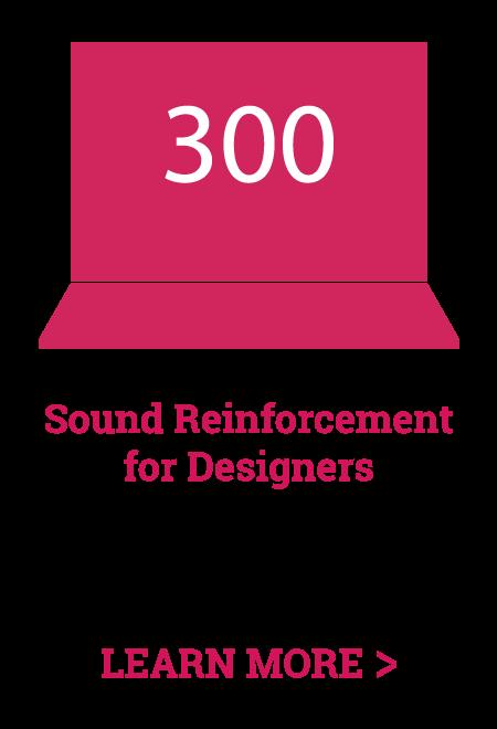 online audio training - sound reinforcement for designers