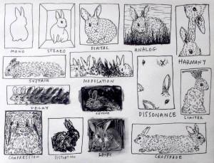 An great illustration of rabbits explaining acoustics.