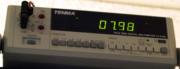 RMS Voltage - Meter #3 Tenma