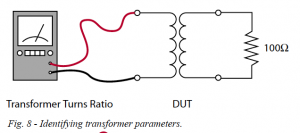 Fig. 8 - Identifying transformer parameters.
