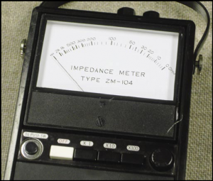 Fig. 2 - The TOA ZM-104 Impedance Meter