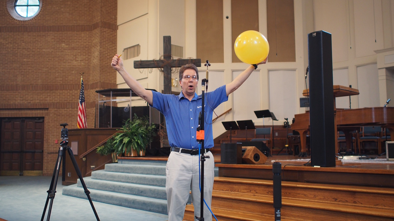 Pat demonstrating IR collection with Balloon