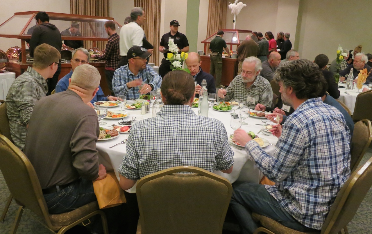 Sit down meals provides networking opportunities.