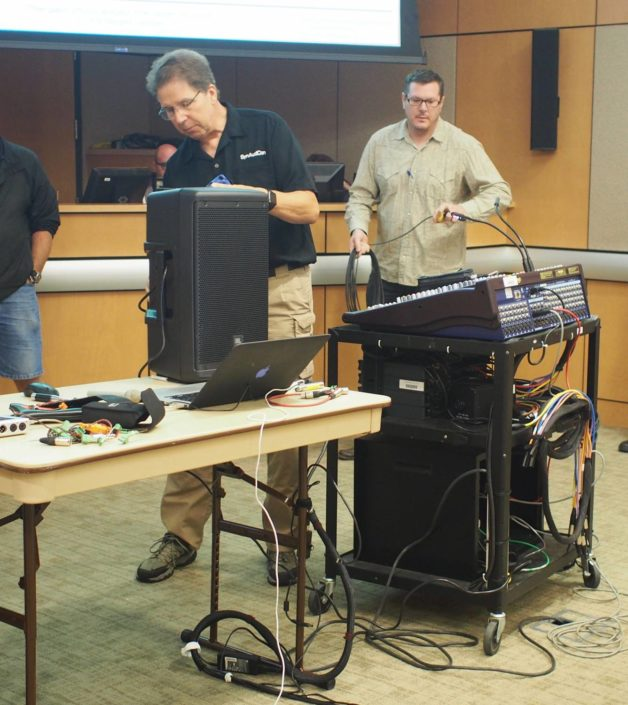 Pat Brown Showing Loudspeaker demos