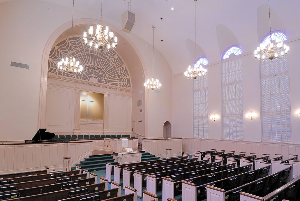 Photo of the church discussed to help understand the room acoustics