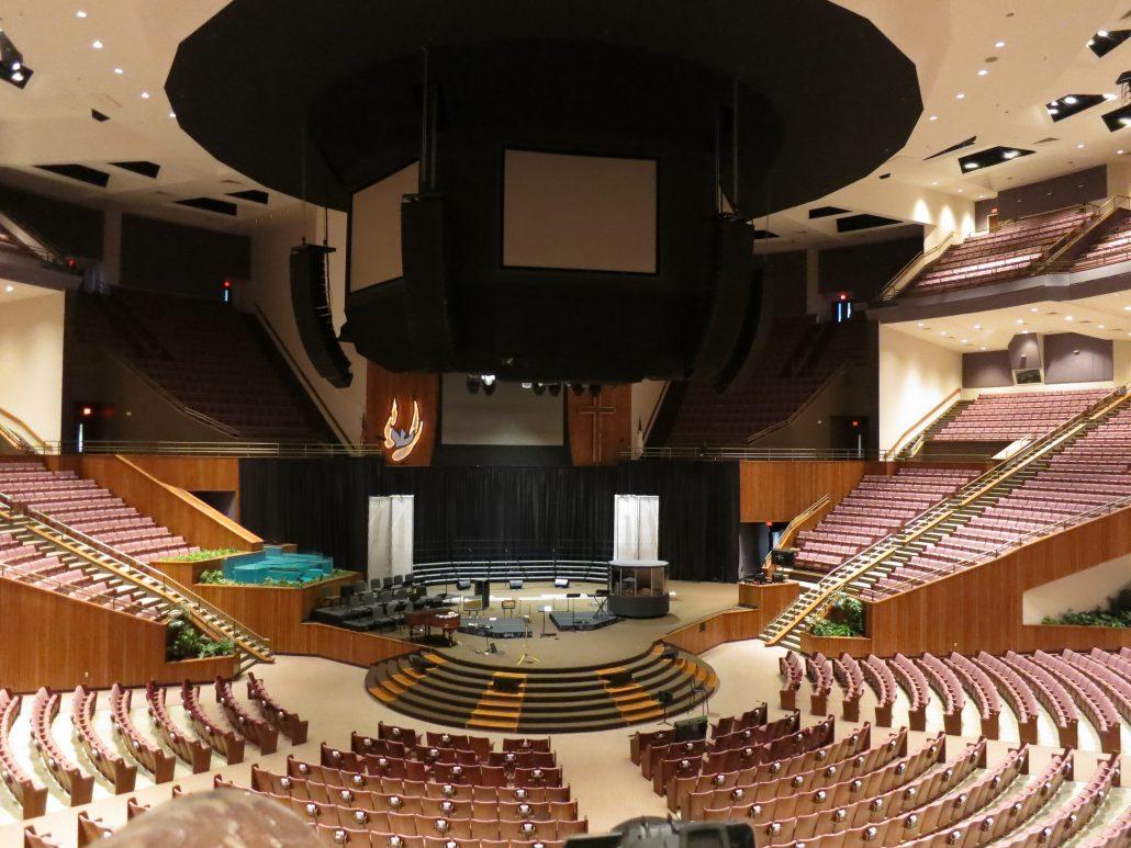 Phoot of the 9600 seat auditorium