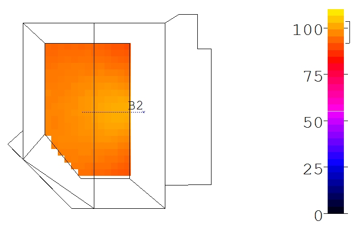 Figure 3: Improved coverage using single center speaker