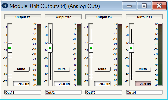 Figure 7 - The Symetrix Prism has precisely adjustable output levels, allowing the output voltage to be reduced to avoid clipping the power amp input. Note that reducing the output signal level may also reduce the signal-to-noise ratio.