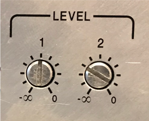 Figure 8 - Trim pots can control the gain of the power amp, but it may still be possible to overdrive the input circuit. Achieving the same trim setting for multiple amplifiers is tedious.