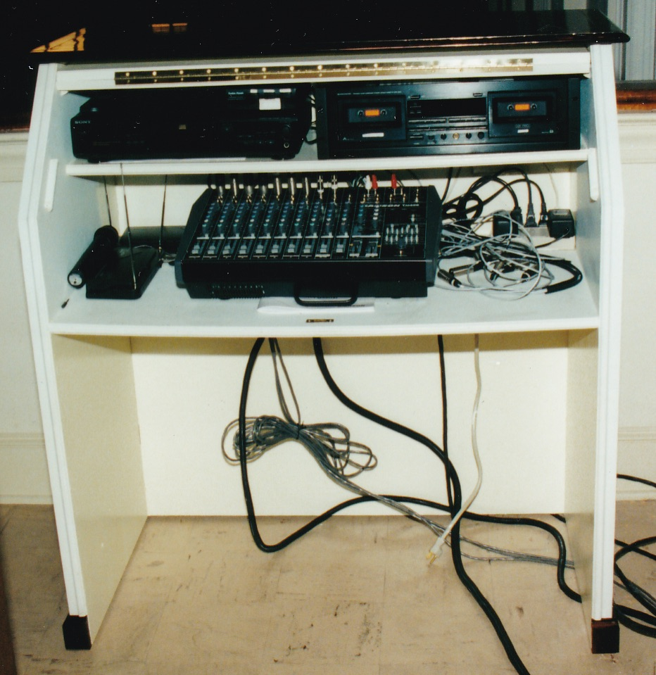 """Figure 4: A simple hinged-top console for a small system from the """"cassette"""" days."""